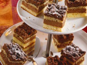 Nougat-Streuselkuchen Rezept