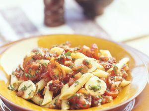 Nudel-Tomatensalat Rezept