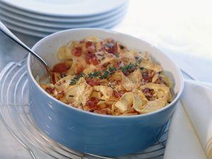 Nudelauflauf mit Käse und Tomaten Rezept