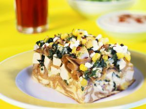 Nudelauflauf mit Tofu und Gemüse Rezept
