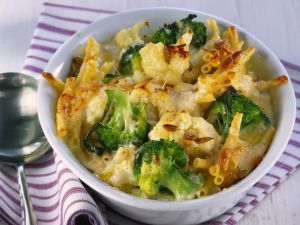 Nudelgratin mit Blumenkohl und Brokkoli Rezept