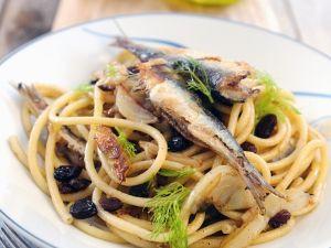 Nudeln mit gebratenen Sardinen Rezept