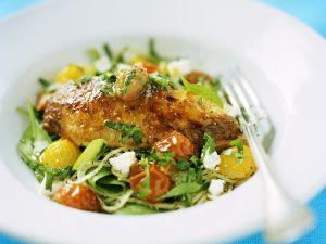 Nudeln mit Hähnchen und Tomaten Rezept