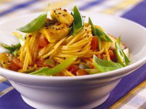 Nudeln mit Kaninchen-Tomatensauce Rezept