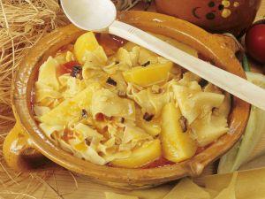 Nudeln mit Kartoffeln auf ungarische Art Rezept