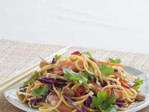 Nudelsalat mit Shrimps Rezept