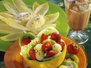 Obstsalat mit Frischkäse und Chicoree Rezept