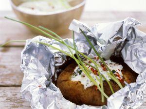 Ofenkartoffel mit Kräutercreme Rezept