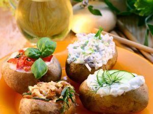 Ofenkartoffeln mit Füllung Rezept