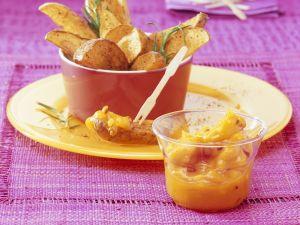 Ofenkartoffeln mit Mango-Chili-Dip Rezept