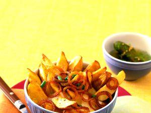 Ofenkartoffeln mit Paprika-Röstzwiebeln Rezept