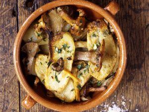 Ofenkartoffeln mit Pfifferlingen Rezept