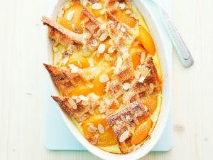 Ofenschlupfer mit Aprikosen und Mandeln Rezept