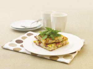 Omelett mit Cornedbeef und und Kartoffeln Rezept