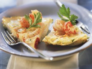 Omelett mit Fisch und Meeresfrüchten Rezept