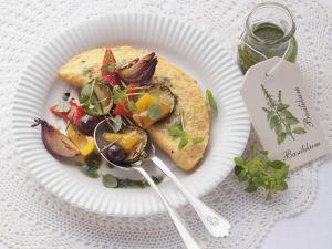 Omelett mit Ofengemüse Rezept