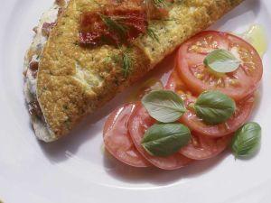 Omelett mit Speck und Kräutern Rezept