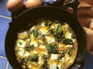 Omelett mit Ziegenkäse Rezept