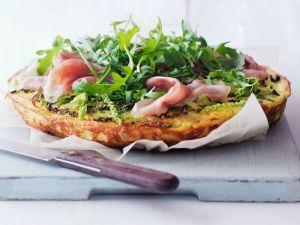 Omelette mit Gemüse und Schinken Rezept