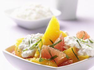 Orangen-Grapefruit-Salat mit Hüttenkäse Rezept