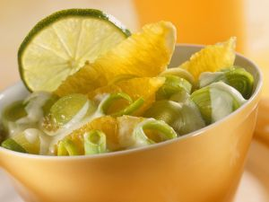 Orangen-Lauch-Salat Rezept