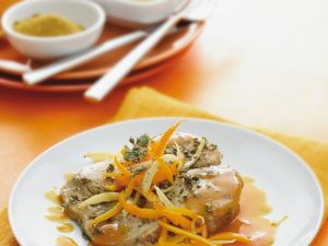 Orangen-Thunfisch in Currysoße Rezept