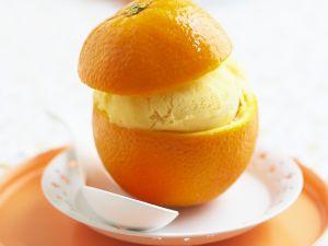 Orangeneis in der Orange Rezept