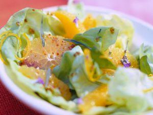 Orangensalat mit Honig-Vinaigrette Rezept