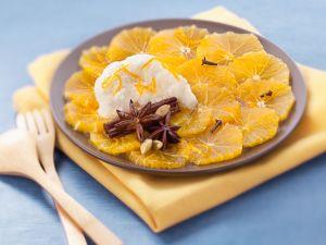 Orangensalat mit Zimt und Nelken Rezept