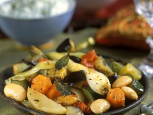 Orientalische Gemüsepfanne Rezept