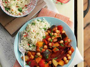 Orientalische Gemüsepfanne mit Couscous Rezept