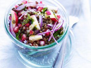 Orientalischer Linsen-Granatapfel-Salat Rezept