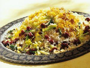 Orientalischer Reis mit Gemüse und Kirschen Rezept