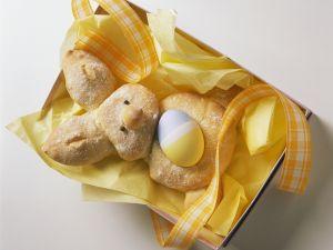 Osterhäschen mit Ei Rezept