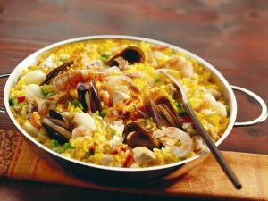 Paella mit Meeresfrüchten Rezept