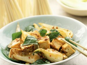Paksoi mit Tofu Rezept