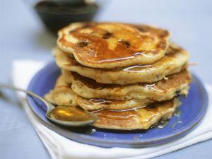 Pancakes mit Blaubeeren Rezept