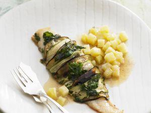 Pangasiusfilet mit Zucchini umwickelt Rezept