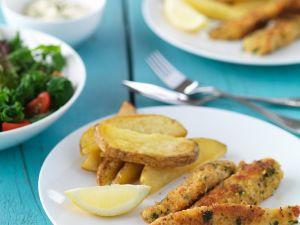 Panierte Fischfilets Rezept