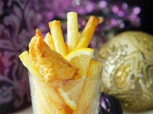Panierter Fisch und Pommes Rezept