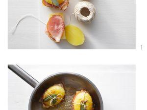 Panino mit Schinken und Kartoffeln zubereiten Rezept