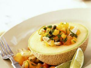 Papaya-Mango-Salat mit Hähnchen Rezept