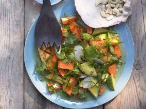 Papayasalat mit Limetten-Vinaigrette Rezept