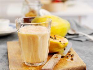 Papayasmoothie mit Pfirsich Rezept