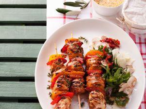 Paprika-Hänchen-Spiesse vom Grill Rezept