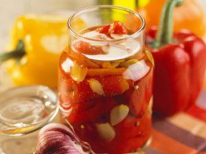 Paprika in Essig eingelegt Rezept