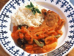 Paprika-Lamm mit Reis Rezept