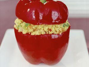 Paprika mit Couscous-Füllung Rezept