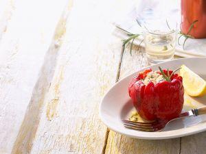 Paprika mit Käsefüllung Rezept