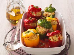 Paprika mit Reisfüllung (vegan) Rezept